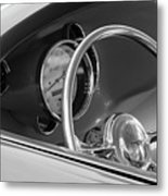 1956 Chrysler Hot Rod Steering Wheel Metal Print