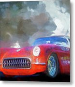 1957 Corvette Hot Rod Metal Print