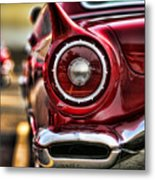 1957 Ford Thunderbird Red Convertible Metal Print