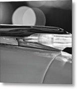 1957 Pontiac Bonneville Hood Ornament - Fender Spear 2 Metal Print