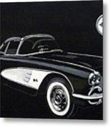 1958 Chev Corvette Metal Print