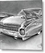 1959 Cadillac Drawing Metal Print