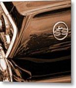 1963 Chevy Impala Ss Sepia Metal Print