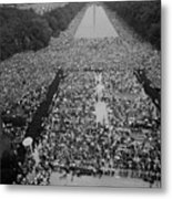 1963 March On Washington, At The Height Metal Print
