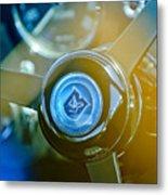 1965 Aston Martin Db5 Coupe Rhd Steering Wheel Metal Print