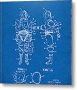 1968 Hard Space Suit Patent Artwork - Blueprint Metal Print by Nikki Marie Smith