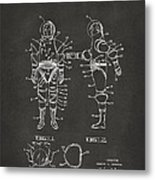 1968 Hard Space Suit Patent Artwork - Gray Metal Print by Nikki Marie Smith