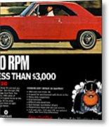 1969 Dodge Dart Swinger 340 Metal Print
