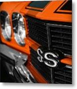 1970 Chevelle Ss396 Ss 396 Orange Metal Print