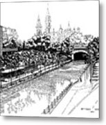 1971 Rideau Canal Ottawa Metal Print