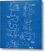 1973 Space Suit Elements Patent Artwork - Blueprint Metal Print by Nikki Marie Smith