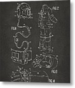 1973 Space Suit Elements Patent Artwork - Gray Metal Print by Nikki Marie Smith