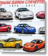 1978 - 2011 Special Edition Corvettes Metal Print