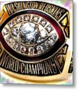 1982 Redskins Super Bowl Ring Metal Print by Paul Van Scott