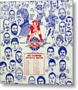 1985 New England Patriots Superbowl Newspaper Poster Metal Print