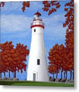 Autumn At Marblehead Metal Print