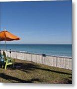 Beachland Boulevard At Vero Beach In Florida Metal Print