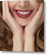 Beautiful Young Smiling Woman Metal Print