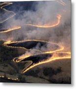 Carefully Managed Fires Sweep Metal Print by Jim Richardson