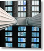 2 Column Stain Blue Metal Print