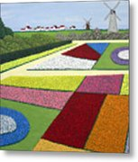 Dutch Gardens Metal Print