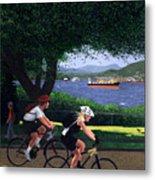 East Van Bike Ride Metal Print