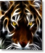 Eye Of The Tiger Metal Print by Wingsdomain Art and Photography