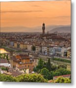 Florence Sunset Metal Print by Mick Burkey