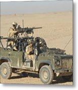 Gurkhas Patrol Afghanistan In A Land Metal Print