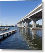Indian River Lagoon At Vero Beach In Florida Metal Print
