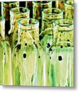 Iridescent Bottle Parade Metal Print