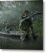 Navy Seals Navigate The Waters Metal Print