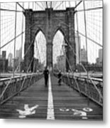 Nyc Brooklyn Bridge Metal Print