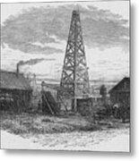 Oil Well, 19th Century Metal Print