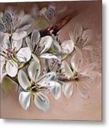 Oriental Pear Blossom Metal Print