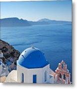 Santorini - Greece Metal Print