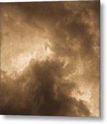 Sepia Clouds Metal Print by David Pyatt