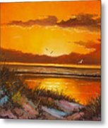 Siesta Sunset Metal Print