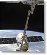 The Spacex Dragon Cargo Craft Metal Print by Stocktrek Images