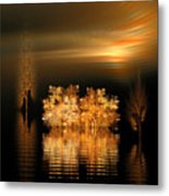 Twilight On The Bayou Metal Print