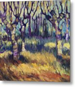 Van Gogh's Orchard Metal Print