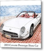 2003 Corvette Prototype Metal Print