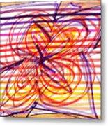 2007 Abstract Drawing 2 Metal Print