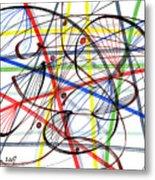 2007 Abstract Drawing 7 Metal Print