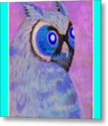 2009 Owl Negative Metal Print