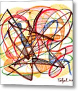 2010 Abstract Drawing Fourteen Metal Print
