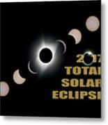 2017 Total Solar Eclipse Phases Metal Print