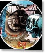 24 Port Hole Collage Series One Number Twenty Four Metal Print by Gabe Art Inc
