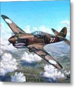 Flying Tiger Over China Metal Print