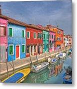 Burano - Venice - Italy Metal Print by Joana Kruse